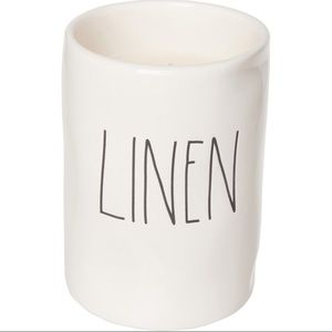 Rae Dunn LINEN candle 11.4 oz NEW